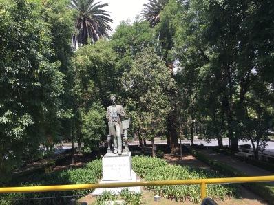 Abraham Lincoln statue in the Polanco district