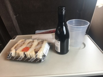 Wine and food on Shinkansen
