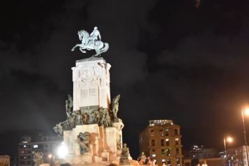 Walking around the Malecon district at night