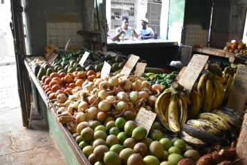 Fresh fruits and vegetable at the market